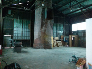 MakeBhm's prospective space in a former factory complex.