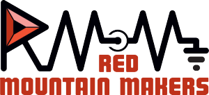 Final version of the Red Mountain Makers logo.